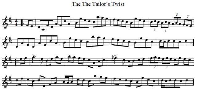 The Tailor's Twist Hornpipe